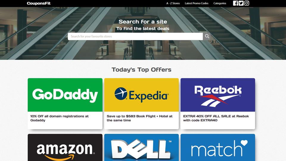 CouponTotal com - Automated Coupon Site, 5k+ Popular US Stores,Premium  12/yo Domain