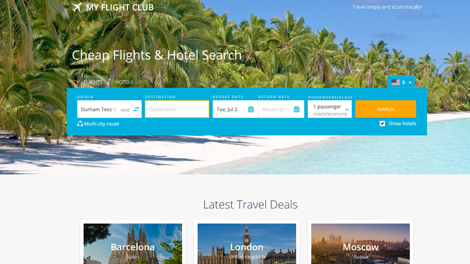 Automated Travel Deals Website For Sale